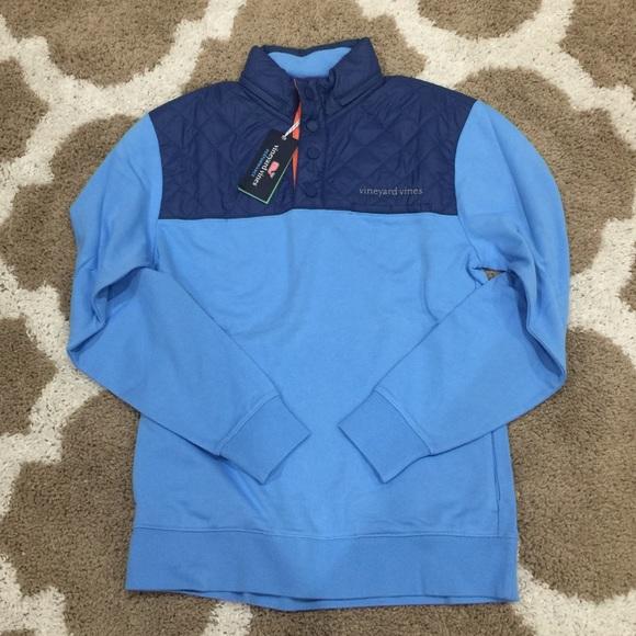 Vineyard Vines Mens Performance Snap Placket Shep Shirt Blue Ocean Breeze $145